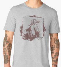 Cowboy Smoking Hat :D Cool Grunge Vintage T-Shirt Men's Premium T-Shirt