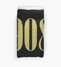 908 Gold Area Code Duvet Cover