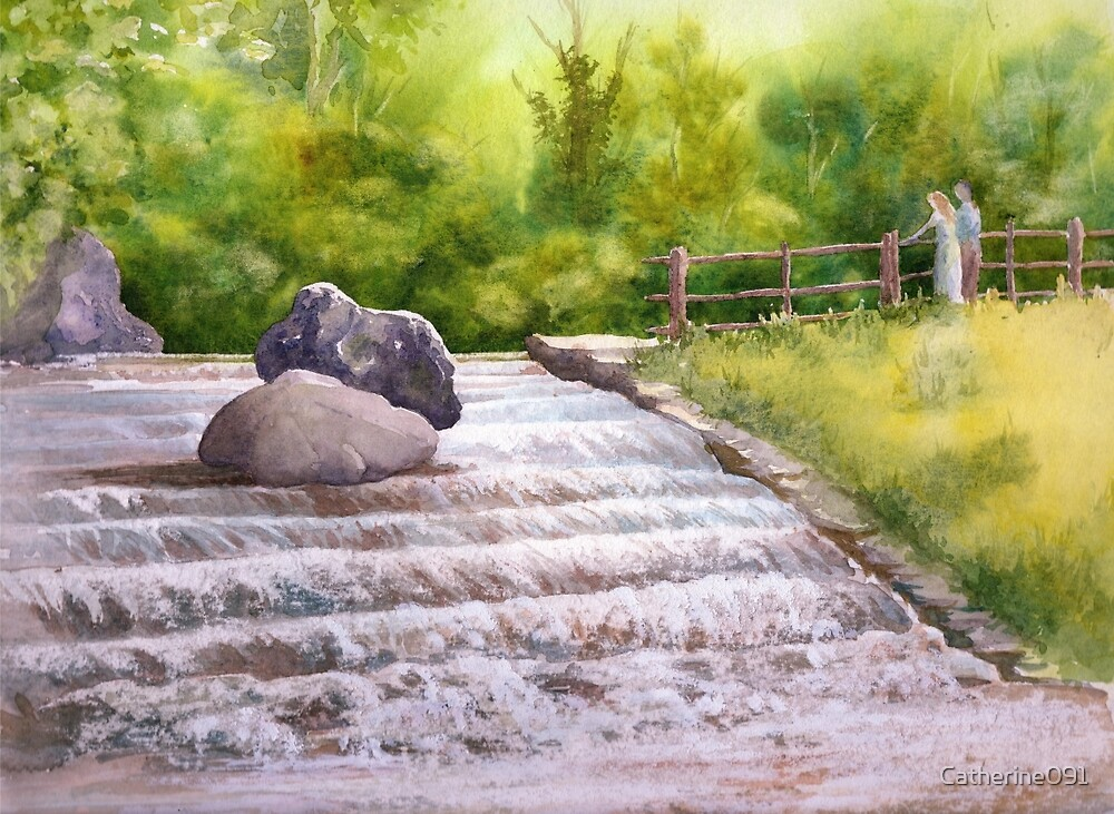 Waterfall Newstead Abby Grounds by Catherine091
