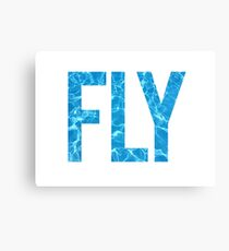 Swim Fly Canvas Print