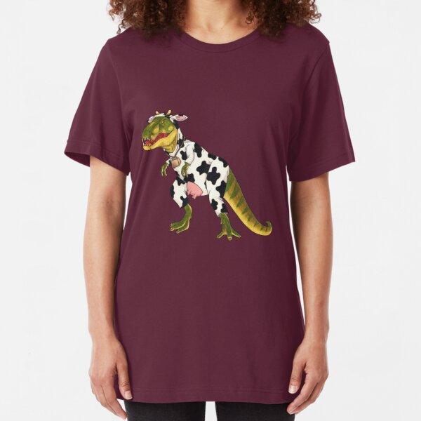 Don't Moo! She Can't See Us If We Don't Moo. Slim Fit T-Shirt