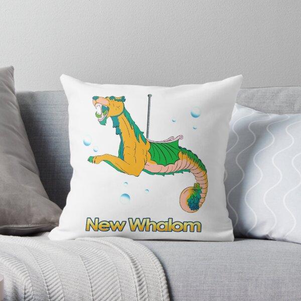 Sea Dragon (Yellow) Throw Pillow