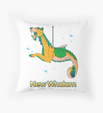 Sea Dragon (Yellow) Throw Pillow
