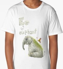 E is for Elephant  Long T-Shirt