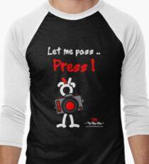 Red - The New Guy - Let me pass .. Press ! Men's Baseball ¾ T-Shirt