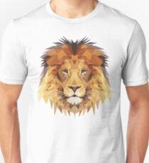 Geometric Powerful Male Lion Motivational & Inpirational T-Shirt