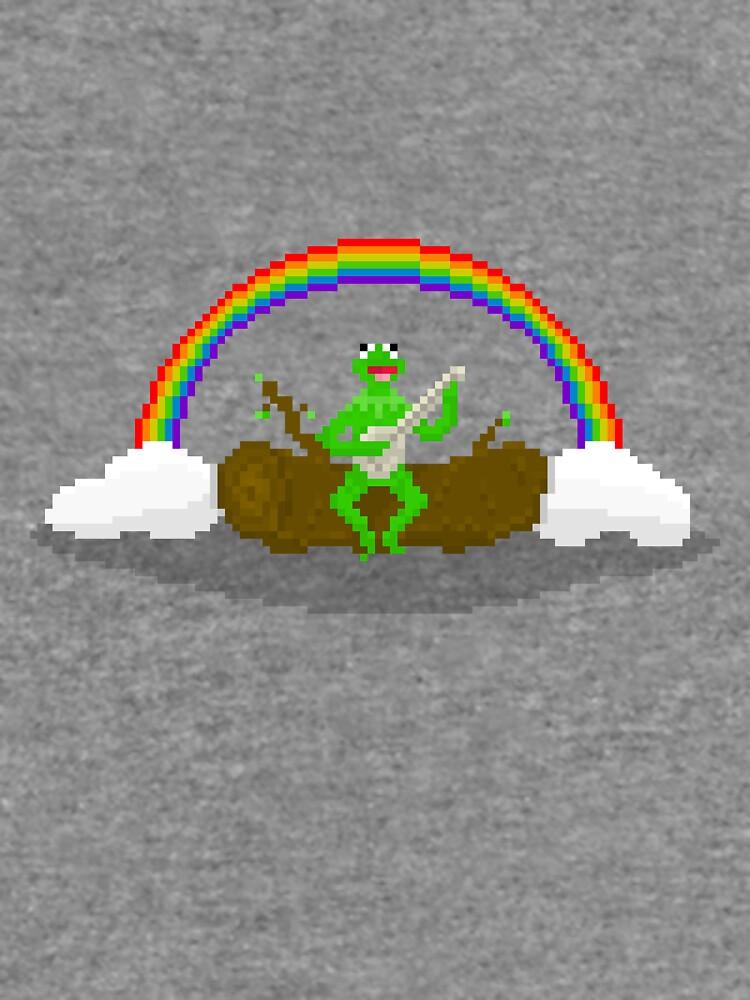 Kermit The Frog Pixel Art Lightweight Sweatshirt By Pixelshorts