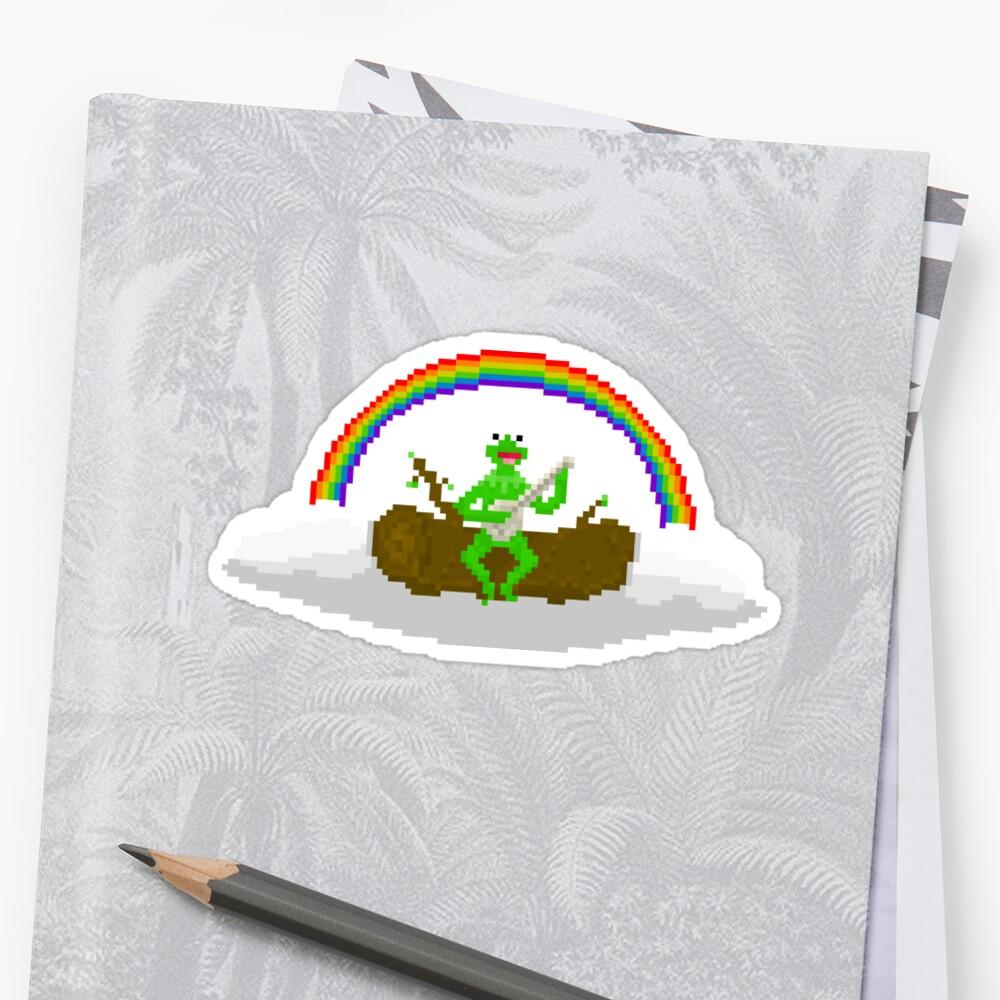 Kermit The Frog Pixel Art Stickers By Pixelshorts Redbubble