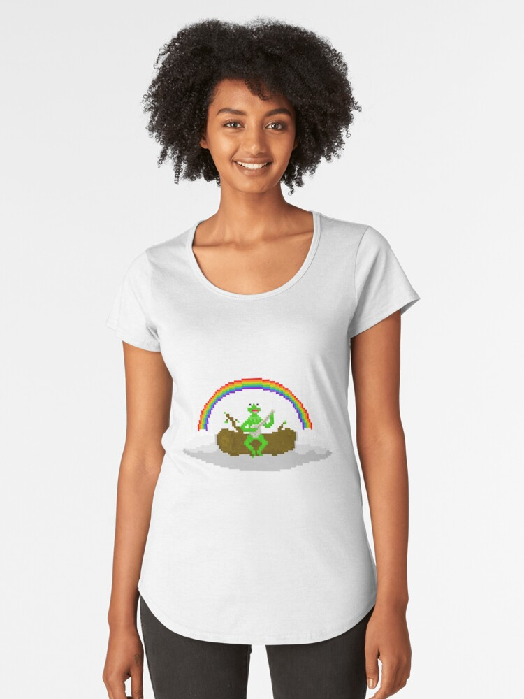 Kermit The Frog Pixel Art Women S Premium T Shirt By Pixelshorts