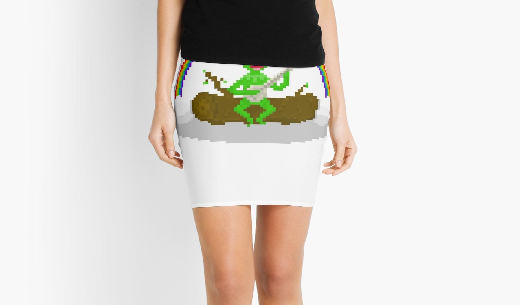 Kermit The Frog Pixel Art Mini Skirts By Pixelshorts Redbubble