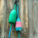 Lobster Buoys at a Lobster Pound, Coast of Maine by fauselr