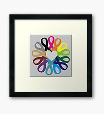Awareness Ribbons Profits for Charity (please read description!!) Framed Print