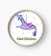 Sea Dragon (Purple) Clock