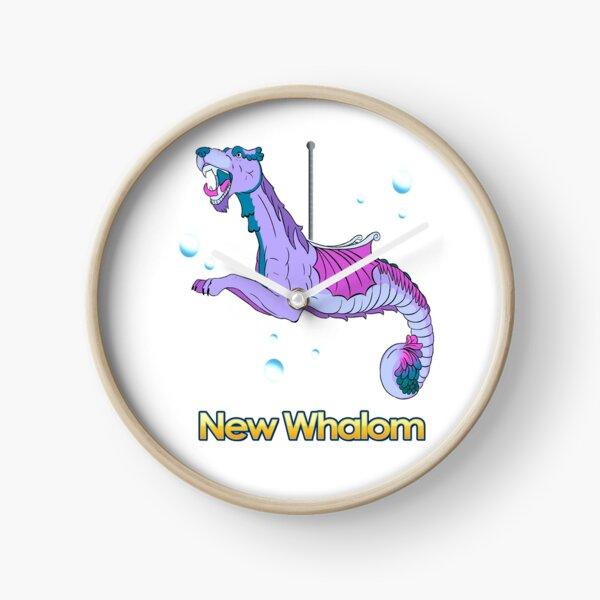 Sea Dragon (Purple) Clock