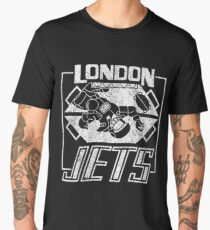 London Jets distressed logo Men's Premium T-Shirt