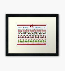 Ugly Christmas Design Framed Print