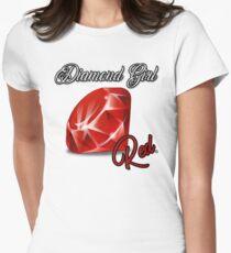 Diamond Girl Women's Fitted T-Shirt