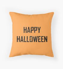 Happy Halloween - Spider Web Throw Pillow
