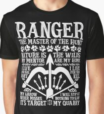 RANGER, The Master of the Hunt - Dungeons & Dragons (White Text) Graphic T-Shirt