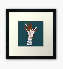 Humans are cyborgs Framed Print