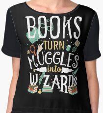 Books turn Muggles into Wizards Women's Chiffon Top