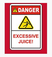 Danger Excessive Juice! Maryland College Football Photographic Print