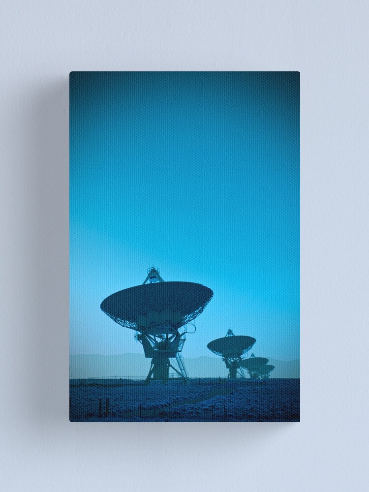Alternate view of VLA (Very Large Array)  (Alan Copson (C) 2007) Canvas Print