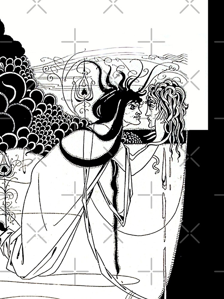 """HD. I kissed your mouth; from """"Salomé"""" by Aubrey Beardsley (1893) by mindthecherry"""