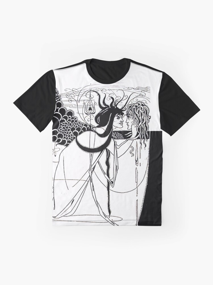 """Alternate view of HD. I kissed your mouth; from """"Salomé"""" by Aubrey Beardsley (1893) Graphic T-Shirt"""