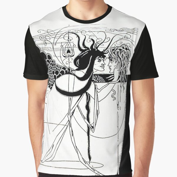 "HD. I kissed your mouth; from ""Salomé"" by Aubrey Beardsley (1893) Graphic T-Shirt"