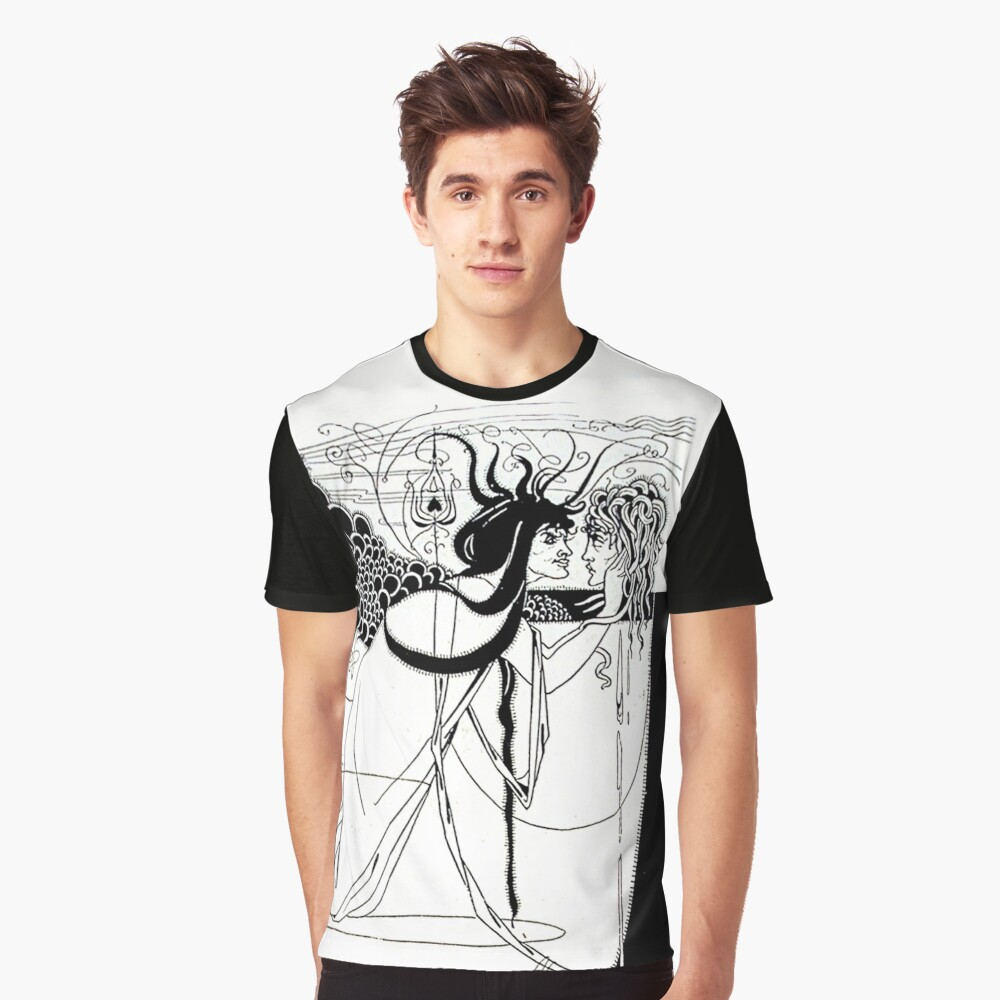 """HD. I kissed your mouth; from """"Salomé"""" by Aubrey Beardsley (1893) Graphic T-Shirt"""