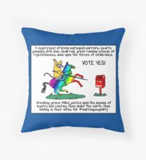 Same sex marriage marsupials Throw Pillow