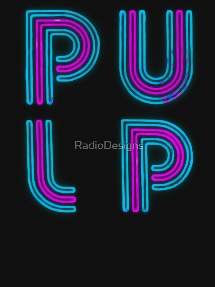 Pulp - Neon Logo by RadioDesigns