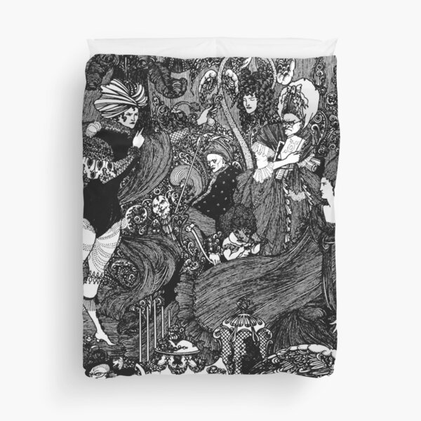 HD The Cave ; by Aubrey Beardsley (1896) Duvet Cover