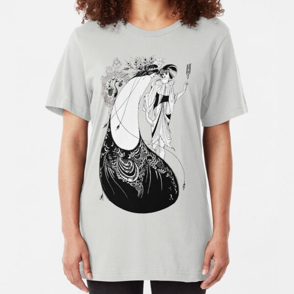 """HD """"The Peacock Skirt"""" from """"Salomé"""" by Aubrey Beardsley Slim Fit T-Shirt"""