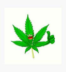 Cool marijuana Art Print