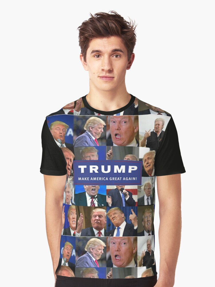MAKE AMERICA DERP AGAIN! PRESIDENT TRUMP LOOKING LIKE A FOOL! Graphic T-Shirt Front