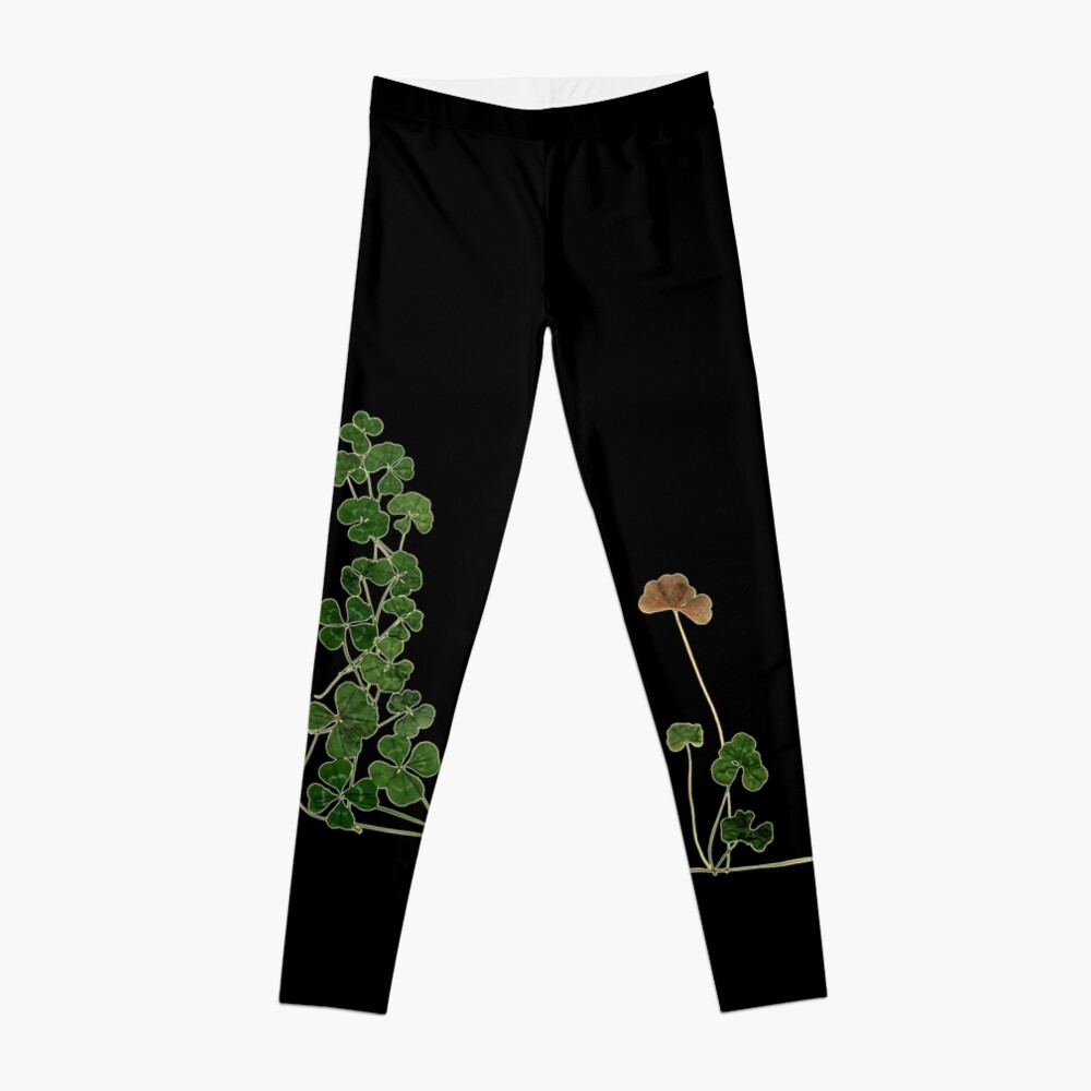 Golden Clover Dreams Leggings Front