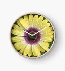 Yellow Daisy Clock