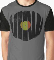 Cool Broken Vinyl Record Grunge Vintage Graphic T-Shirt