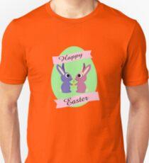 Happy Easter Cute Bunnies Unisex T-Shirt