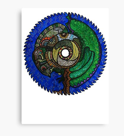 Tree Saw Blade (saw blade #3) Canvas Print