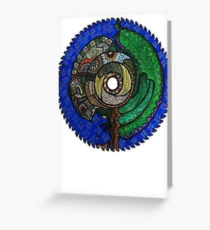 Tree Saw Blade (saw blade #3) Greeting Card