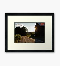 A Golden Ray Framed Print