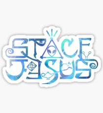 Space Jesus logo Sticker