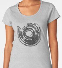 Abstract Maze Distressed Women's Premium T-Shirt