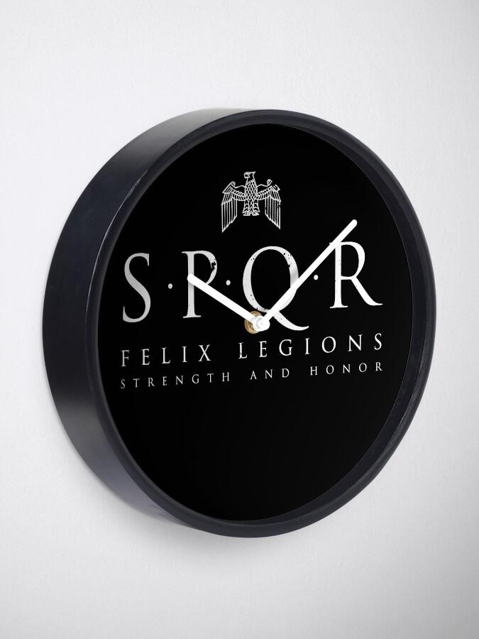 Alternate view of SPQR - Roman Empire Army Clock