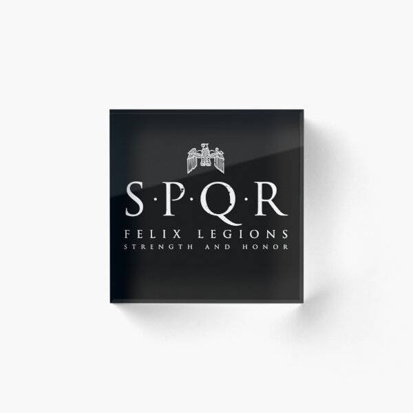 SPQR - Roman Empire Army Acrylic Block