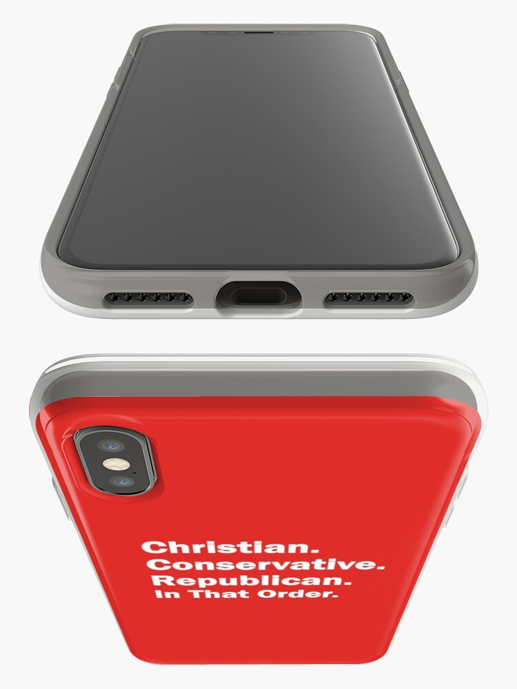 Alternate view of Christian, Conservative, Republican iPhone Cases & Covers