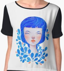 Blue Women's Chiffon Top